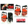 GUANTES CROSS PRO-SPORT ADVANCE NARANJA