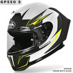 CASCO AIROH GP550 S VENOM BLANCO MATE