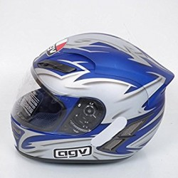 CASCO AGV STEALTH SHADOW COL GRIS AZUL