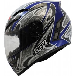 CASCO AGV STEALTH ARABESQUE GRI AZUL