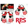 GUANTES RPS. SS3 RACING COLOR BLANCO ROJO