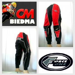 PANTALON  FORCE ONE NEGRO ROJO