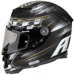 Helmet full face AIROH GP500 CHECK  BLACK MATE