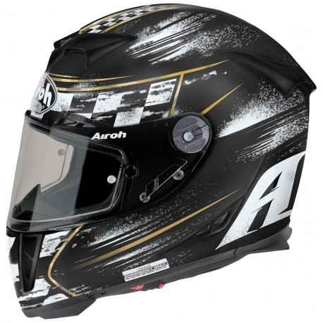 Casco integral AIROH GP500 CHECK NEGRO MATE