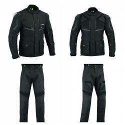 TRAJE CONPUESTO POR CHAQUETA tricapa de toda estación Color negro (HOMBRE) LVE40-AFRIC / LOVO® + Pantalones unisex) lvr70-highw