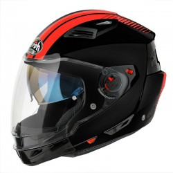 CASCO AIROH EXS 17 EXECUTIVE STRIPES NEGRO/NARANJA