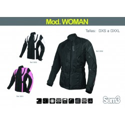 CHAQUETA CORDURA SOM3 WOMAN COLOR NEGRO BLANCO