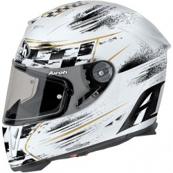 Helmet full face AIROH GP500 CHECK  WHITE GLOSS