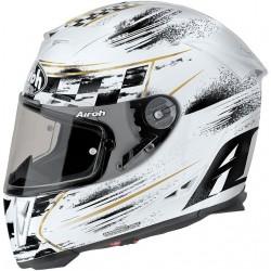 Helmet full face AIROH GP500 CHECK  WHITE GLOSS