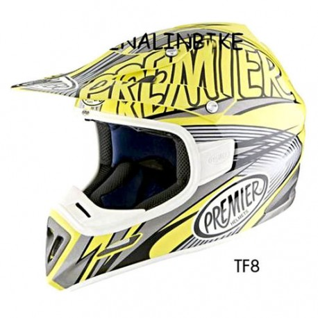 Casco Premier Cross Enduro Predator amarillo Fiber TF8