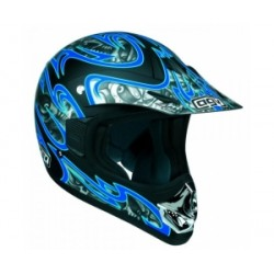 CASCO AGV CROSS RC-5 SKULLS NEGRO AZUL