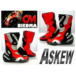 BOTAS ASKEW RACING X8 COLOR ROJA